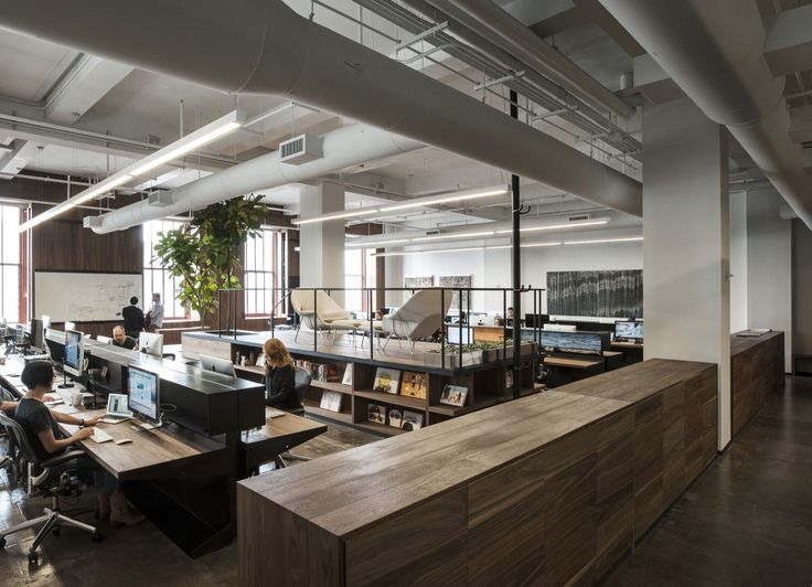 Both work stations and meeting space in one Fifty Three, Inc / +ADD