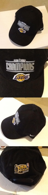 Hats and Headwear 158968: Los Angeles Lakers Nike 2002 Nba Champs Hat Cap Velcro Adjust Nba Kobe Shaq La -> BUY IT NOW ONLY: $40 on eBay!