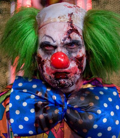 Happy clowns have always been creepier to me.  I'm not scared of evil clowns...they aren't hiding anything!