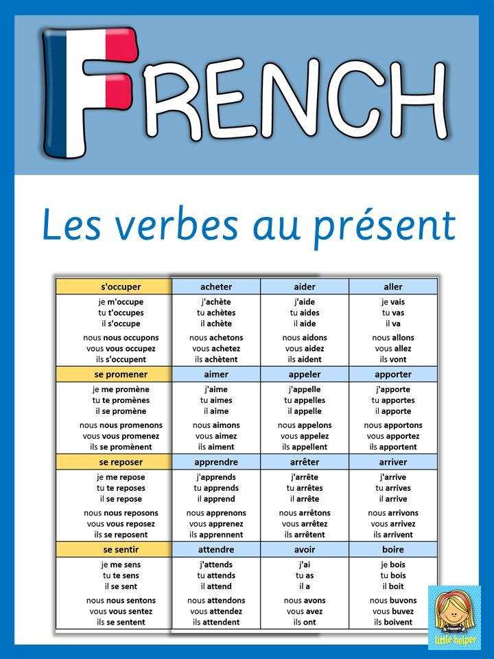 This set has 158 regular, irregular and reflexive French verbs, conjugated au présent. All French verbs come in alphabetical order and are a great reference tool for FLE teachers and students. Please download the list of verbs in the preview to see if my collection of conjugated French verbs is useful to you.