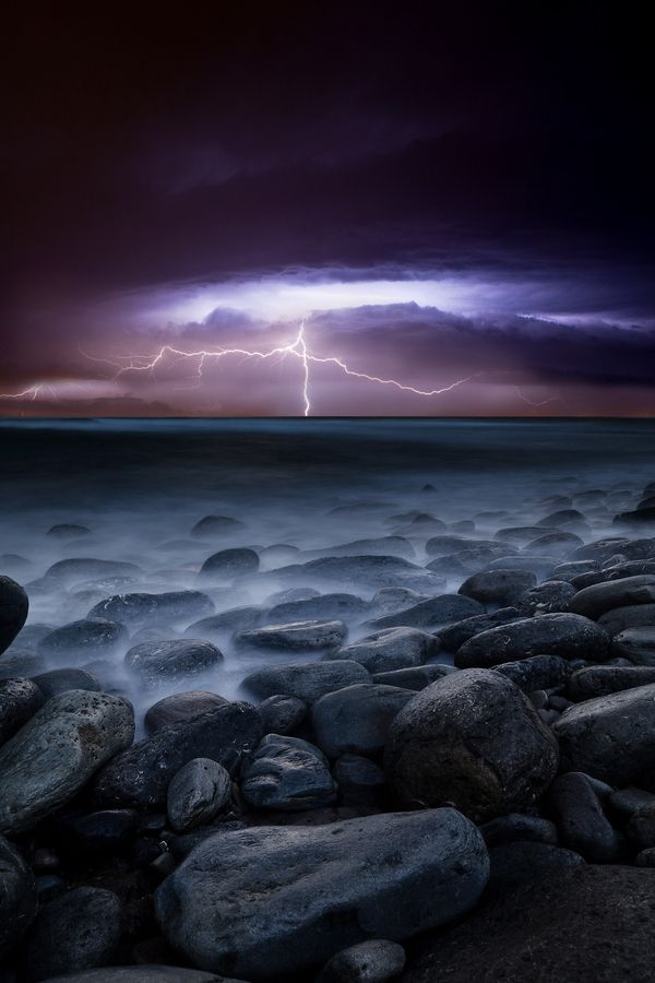 by jorge maia: Thunderstorms, Natural Photography Lightning, Lightning Storms Photography, Shades Of Purple, Raw Power, Jorge Maia, Beautiful, Natural Photography Storms, Purple Sky