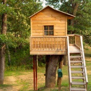 Simple kids tree house. I promised cam we would build one as soon as we got into our first house!!! Def making this summer!!!!