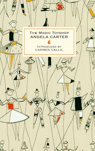 The Magic Toyshop - Angela Carter (alternative cover), using jacqueline groag's puppet ballet fabric design