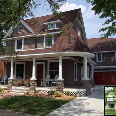 Exterior paint colors for a brown roof google search - Brown exterior house paint ...