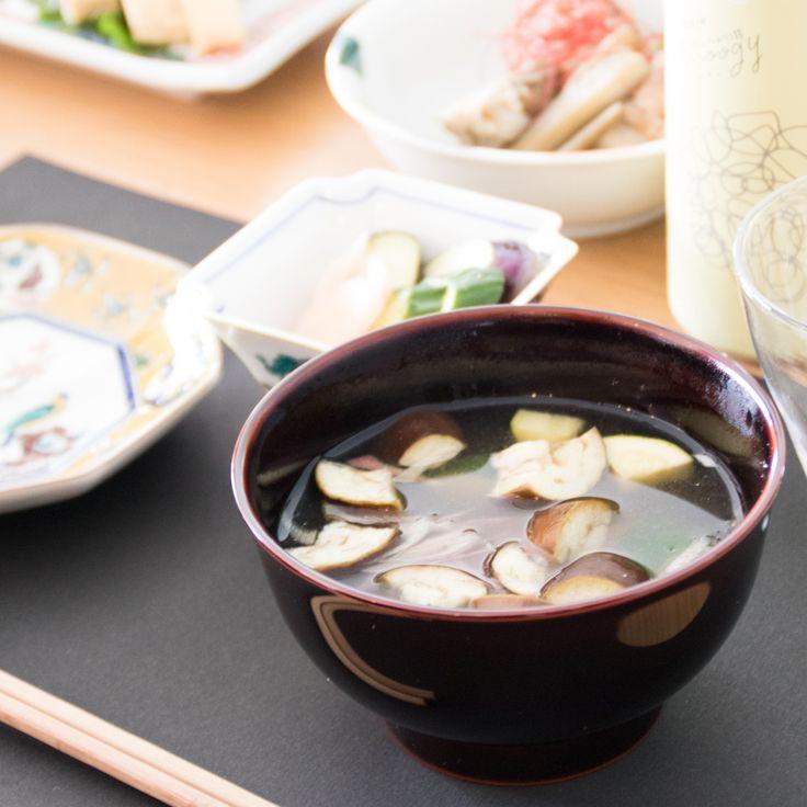 定番のお味噌汁椀。 Fudanシリーズ_おとなわん溜色   http://j-cocomo.jp