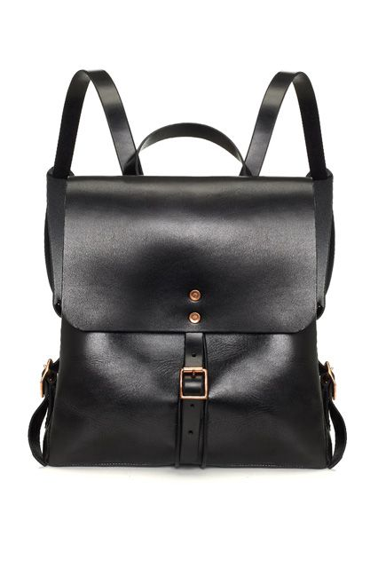 Over Carrying 2 Bags To Work? So Are We... #refinery29  http://www.refinery29.com/best-bags-for-laptops#slide11  Canvas backpacks are for the grade-school set. This black leather one on the other hand...