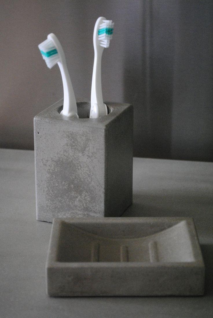Concrete Bath Set.