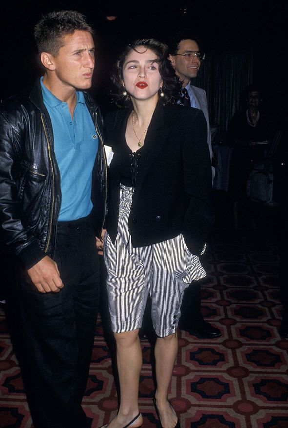Madonna and Sean Penn in 1988, when they were still  married. They stayed married 4 years.