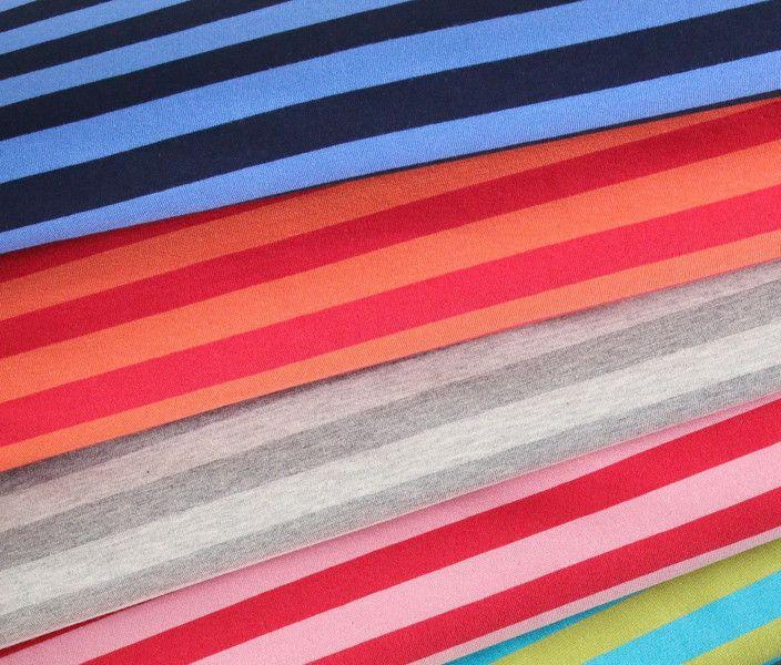Bio-Stoffe - GOTS Streifen Ringel Jersey Blau Hamburger Liebe - ein Designerstück von SEEMANNSGARN-Stoffe-und-Kreatives bei DaWanda