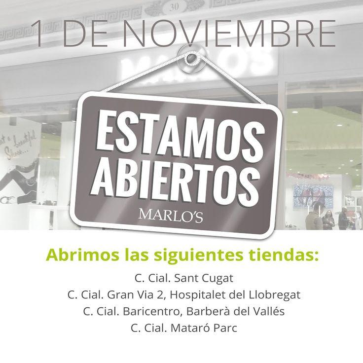 Hoy abrimos en nuestras tiendas de estos Centros Comerciales: Sant Cugat Centre Comercial Gran Via 2 Centro comercial Baricentro Centre Comercial Mataró Parc