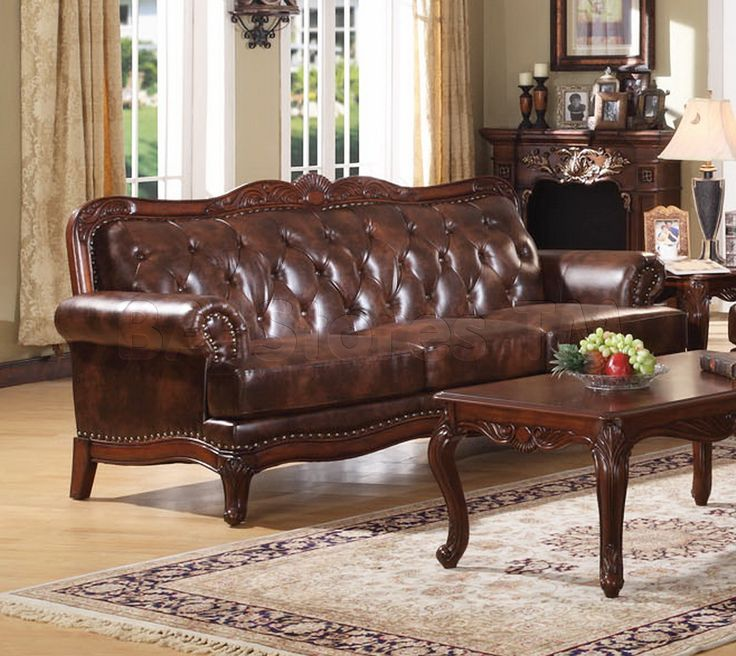 Birmingham Tri Tone Leather Sofa   Acme Furniture