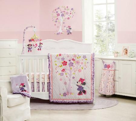Fall In Love With Minnie Mouse Blossoms Crib Bedding The Nursery Pinterest Baby And Disney