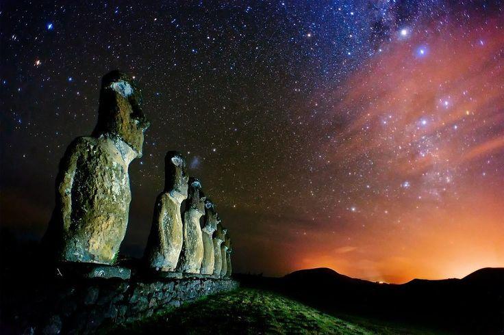 Статуи Моаи, Остров Пасхи.