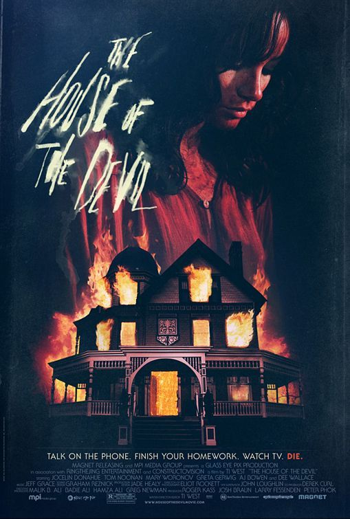 """MP1065. """"The House of the Devil"""" Movie Poster by Neil Kellerhouse from Kellerhouse Inc. (Ti West 2009) / #Movieposter"""