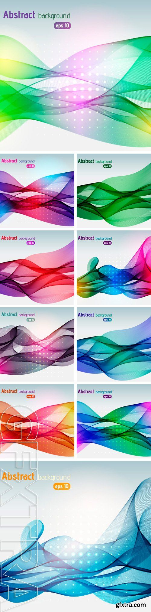 Stock Vectors - Vector abstract colorful waves background