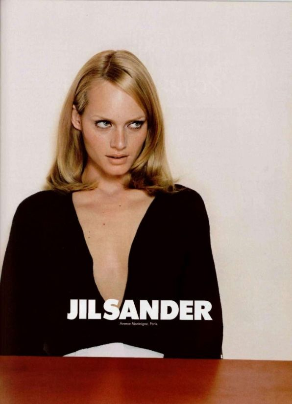 amber valletta by craig mcdean for jil sander fall campaign 1995.