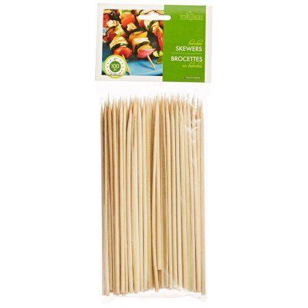 Fox Run 6 Inch Skewers Bamboo Shish Kebob BBQ Grilling Sticks Meats & Vegetables