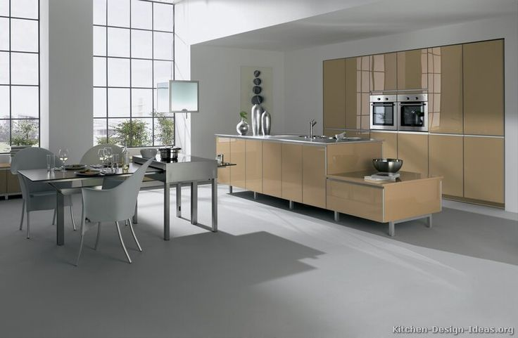 #Kitchen of the Day: Modern kitchen with a minimal feel an open-plan design. Contemporary Kitchen Cabinets #01 (Alno.com, Kitchen-Design-Ideas.org)