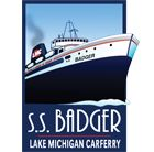 S.S. Badger Ludington Dock 701 Maritime Drive Ludington, MI  49431 Local Ticket Office Phone: 231-845-9614 The S.S. Badger offers the largest cross-lake passenger service on the Great Lakes and an authentic steamship experience. The relaxing four-hour, 60-mile cruise takes passengers, autos, RVs, tour buses, motorcycles, bicycles, and commercial trucks across Lake Michigan between Ludington, Michigan and Manitowoc, Wisconsin.