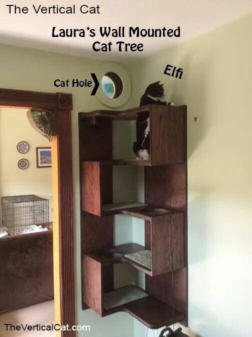 Corner cat tree with window!