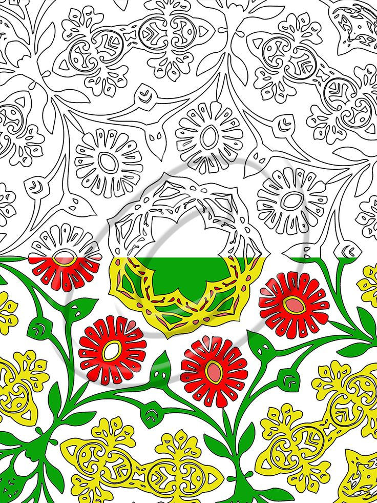 12 best Floral Downloadable Coloring Book Page images on Pinterest ...