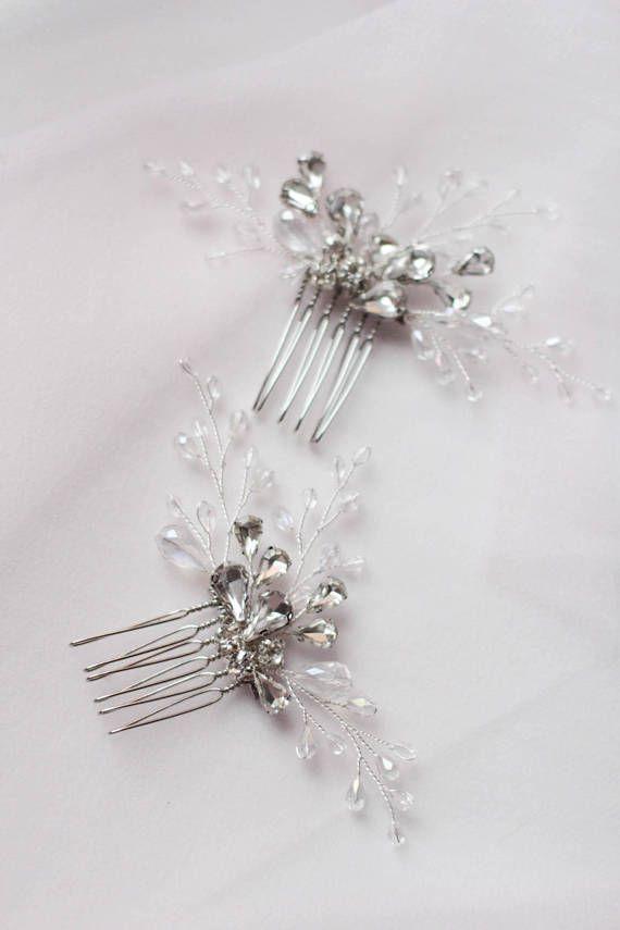 890a6a0f47fe6 Small Hair Comb Set of Combs Pins Bridesmaid Hair Pins Bridal Hair ...