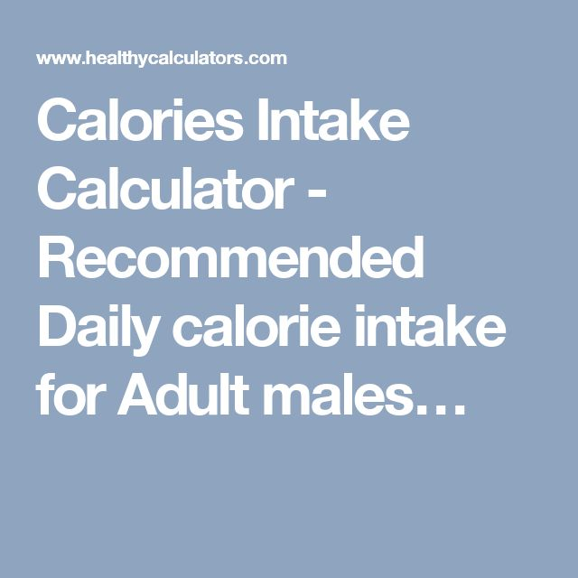 What Does the Recommended Daily Intake of 2000 Calor