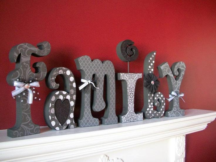 Family Wood Letters. $50.00, via Etsy.