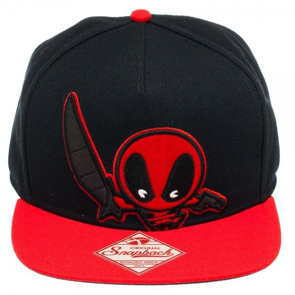 Deadpool Kawaii Flatbill Snapback Cap