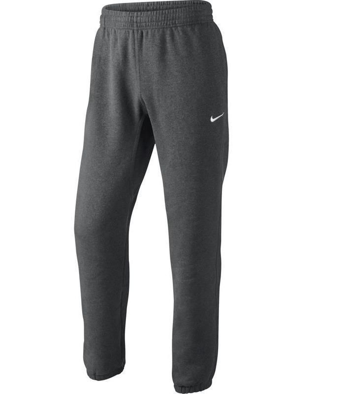 Nike Mens Classic Sportswear Fleece Dark Gray Cuffed ...