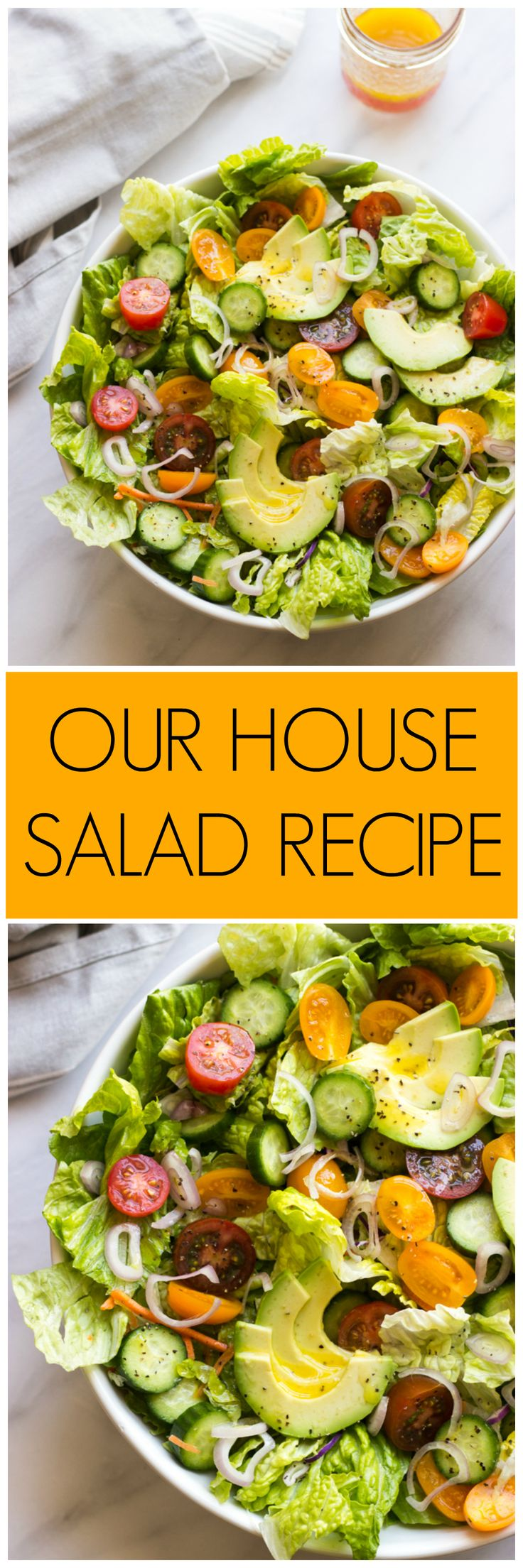 Our House Salad Recipe - the most easiest and delicious every day salad with zesty dressing   littlebroken.com @littlebroken