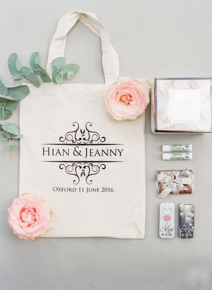Wedding goodie bag from Oxford vow renewal