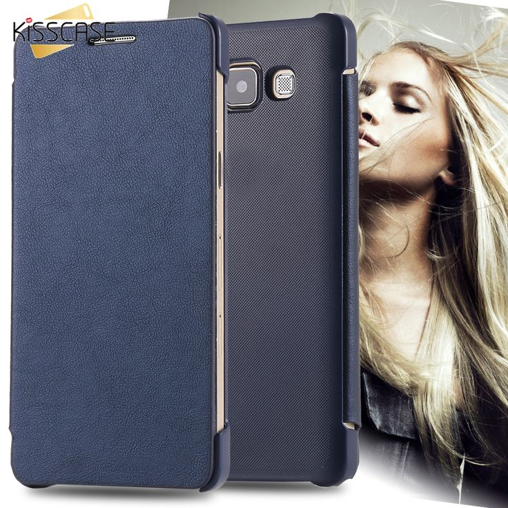 KISSCASE For Samsung A5 Flip Cases Retro Leather Cover For Samsung Galaxy A5 A500 Full Protect Vintage Phone Case Original Logo #Affiliate