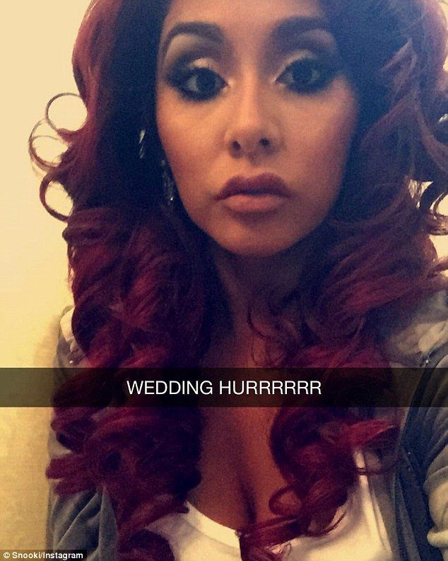 Celebrated: JWoww's best friend Snooki was a bridesmaid and posted this  selfie on her Inst