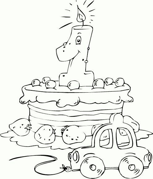 28 best Happy Birthday coloring pages images on Pinterest School