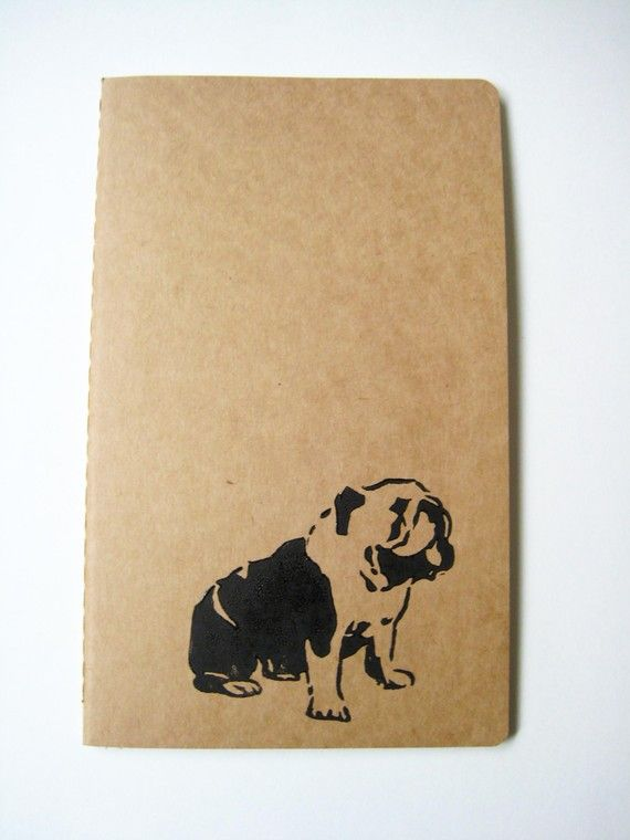 English Bulldog notebook :)