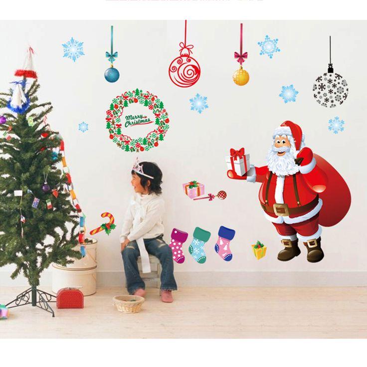 Merry Christmas Removable Wall Decal Art Home Decor Kids Room DIY Sticker http://www.ebay.com/itm/Christmas-Decor-Removable-Room-Vinyl-Decal-Art-Wall-Home-Kid-DIY-Stickers-Mural-/261556546466