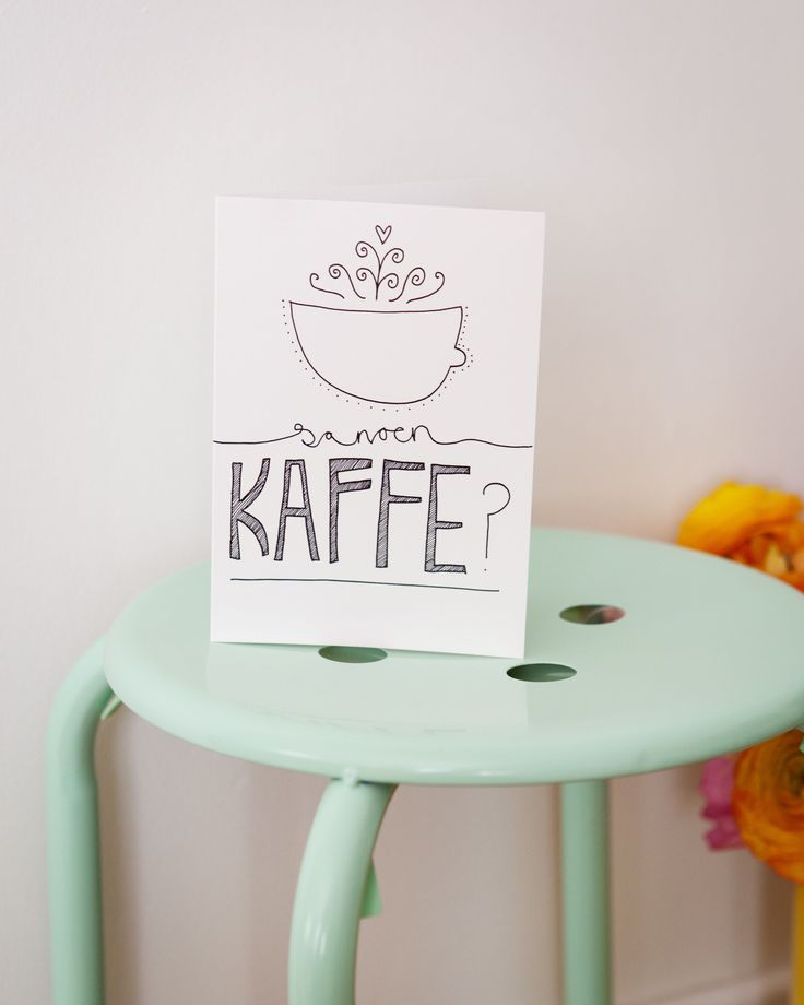 Would you like some coffee? www.strekpoesi.no Strekpoesi, illustration, card