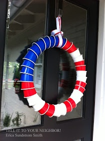 American Flag Wreath - Plastic Cups