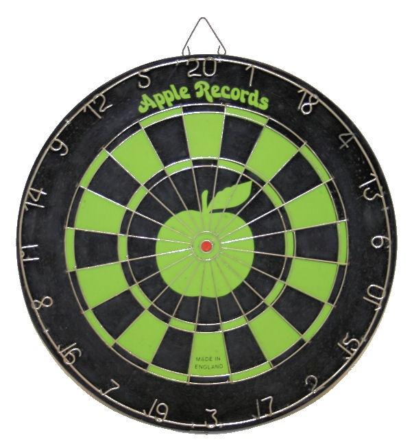 Apple Records dartboard (promo item) Apple records