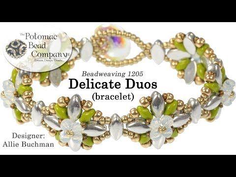 Beadweaving 1205   Delicate Duos - YouTube