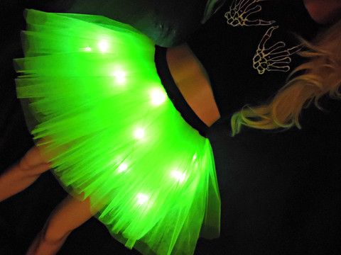 Budget Party Lights Tutu Neon Green Light Up Tutu  www.tutufactory.co.uk