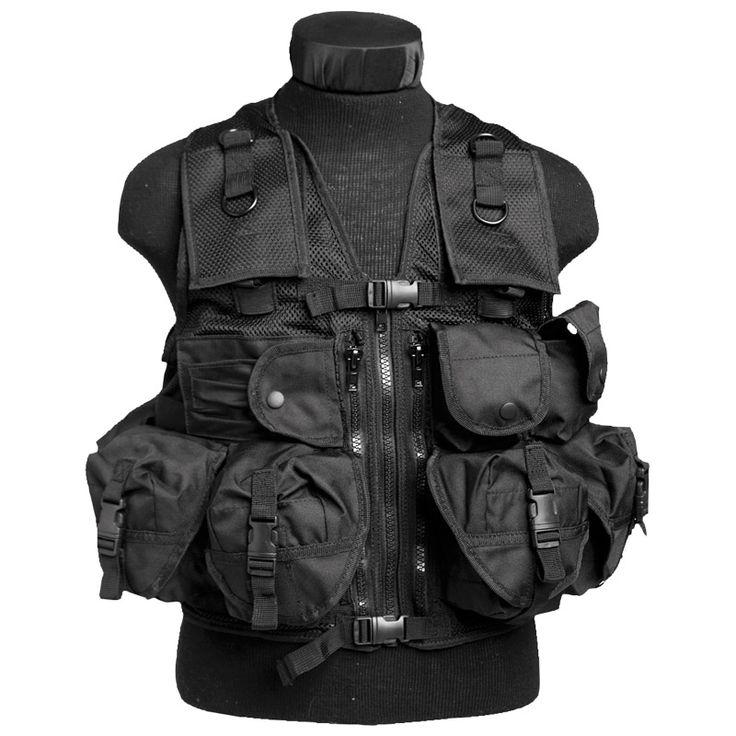 Mil-Tec Ultimate Assault Vest Black | Vests | Military 1st