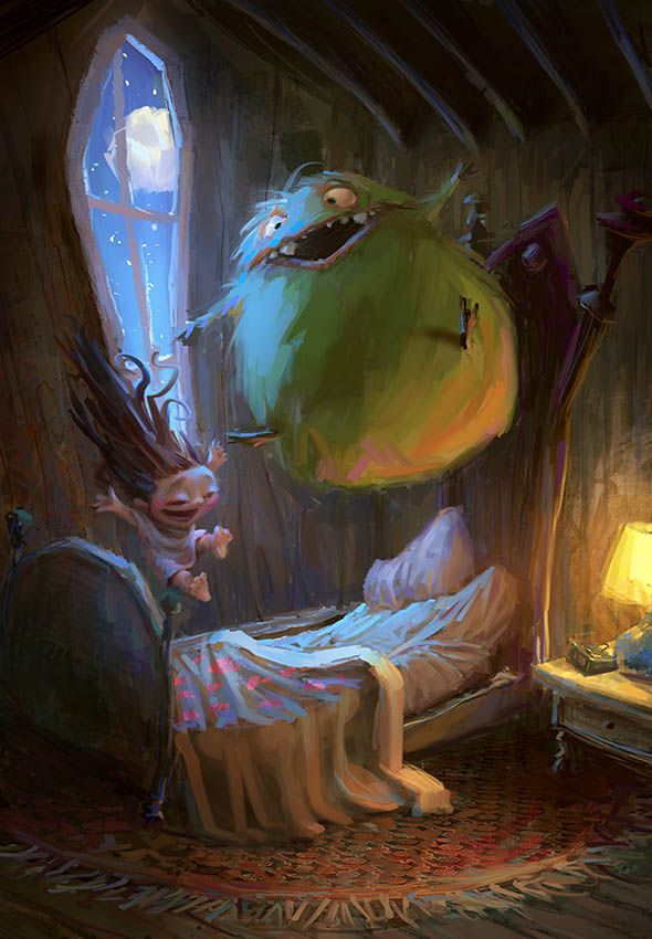 Slumber Party Monster Geek Art