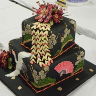 images of capital area cake show wedding cakes | Asian inspired cake from National Capital Area cake show.