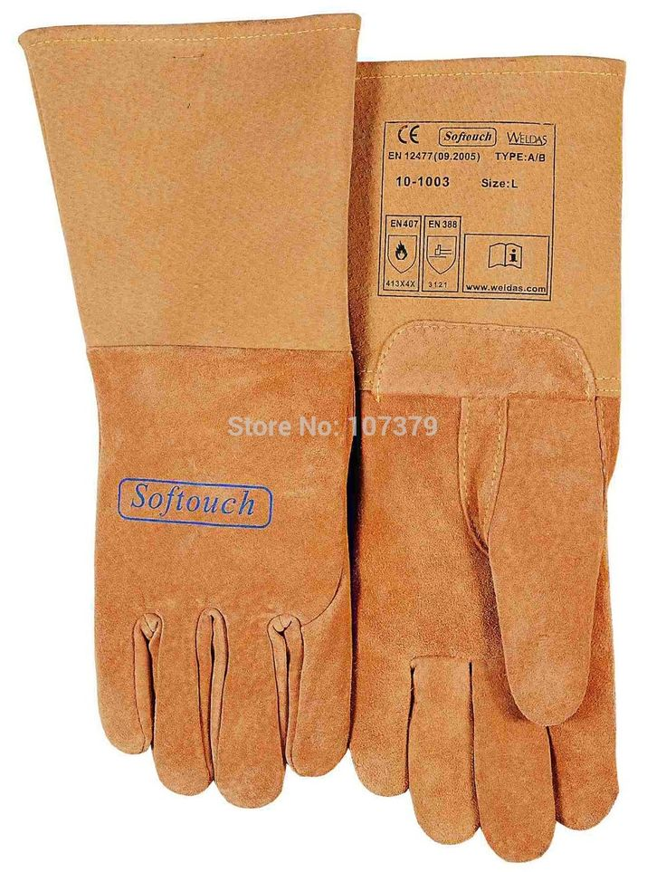 25.80$  Watch now - http://aliyea.shopchina.info/go.php?t=2037856509 - TIG MIG  Work Glove Top Grain Reverse Pigskin Leather Welding Gloves 25.80$ #shopstyle