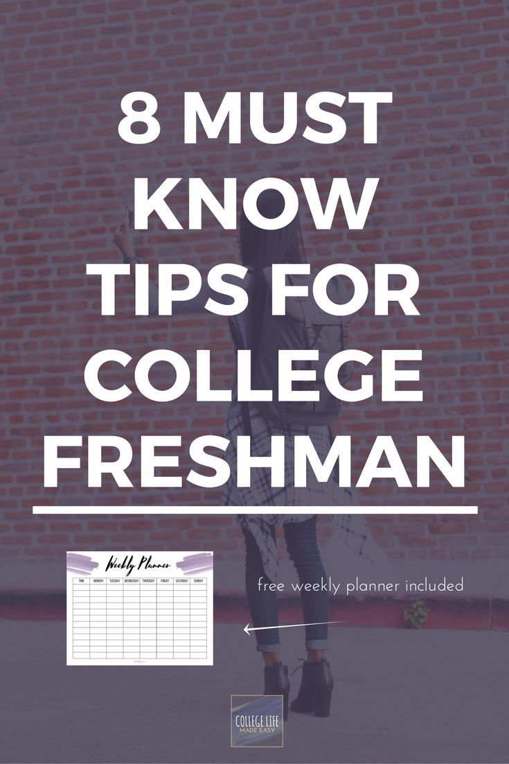 College Freshman Tips | Tips & Tricks for College Students | College Freshman Advice | College Freshman Organization | College Freshman Year | Free Printables | Free College Printables | Free Weekly Planner Printables | Survival Guide for College Students |
