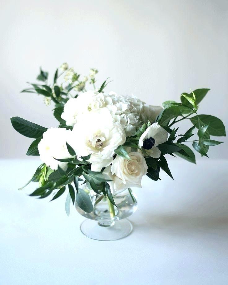 White Eucalyptus Centerpieces Wedding Flowers Wedding Table