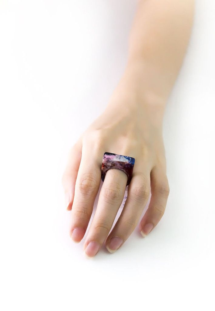 Galaxy Resin Ring