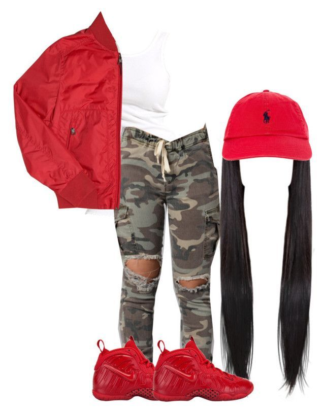 """""""Sad I Can't Go To School Today Have To Babysit"""" by keith1011 ❤ liked on Polyvore featuring Soaked in Luxury, Moncler, NIKE and Polo Ralph Lauren"""